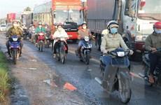 Quốc lộ 1 đoạn qua Tiền Giang bị hư hỏng, không đảm bảo an toàn