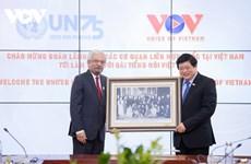 Đại diện 15 cơ quan Liên hợp quốc tại Việt Nam thăm, làm việc tại VOV