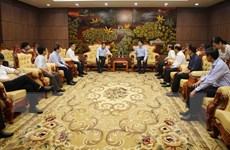 Đoàn cán bộ Thông tấn xã Việt Nam thăm và làm việc với tỉnh Quảng Trị