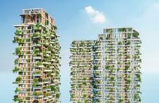 400 vườn trên cao của tháp xanh cao nhất Việt Nam tại Ecopark