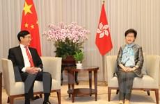 Tổng Lãnh sự Việt Nam chào từ biệt Trưởng Đặc khu Hành chính Hong Kong