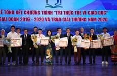 3 công trình xuất sắc thắng giải 'Tri thức trẻ vì giáo dục' 2020