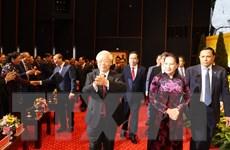 Tổng Bí thư dự Lễ kỷ niệm 90 năm thành lập Mặt trận Dân tộc thống nhất