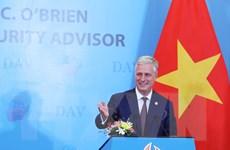 [Photo] Cố vấn An ninh Quốc gia Mỹ nói chuyện với sinh viên Việt Nam
