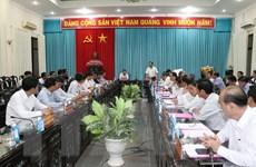 Hình ảnh Đoàn công tác TTXVN làm việc tại tỉnh Bến Tre