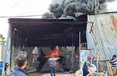 Bình Dương: Cháy xưởng tái chế nhựa, nhiều người dân hoảng sợ