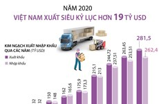 [Infographics] Năm 2020, Việt Nam xuất siêu kỷ lục hơn 19 tỷ USD