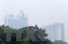 [Photo] Chất lượng không khí tại nhiều khu vực ở Hà Nội lại xấu đi