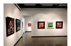 Ngắm không gian nghệ thuật đầy sắc Xuân trong triển lãm '5 mới'
