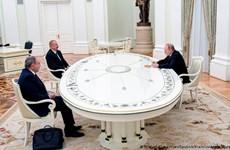 Tổng thống Putin chủ trì cuộc họp với lãnh đạo Armenia và Azerbaijan