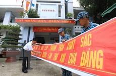 [Photo] Quân và dân đảo Sinh Tồn hướng về Đại hội XIII của Đảng