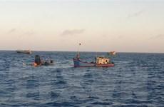 Duy trì tìm kiếm 6 thuyền viên tàu cá bị nạn trên vùng biển Côn Đảo