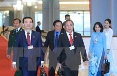 Hình ảnh đại biểu đến dự phiên thảo luận các văn kiện Đại hội XIII