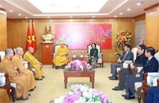 Bà Trương Thị Mai tiếp Đoàn đại biểu Trung ương Giáo hội Phật giáo