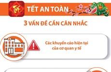 [Infographics] 3 vấn đề cần cân nhắc để có một Tết an toàn