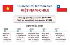 [Infographics] Mối quan hệ Đối tác toàn diện Việt Nam-Chile