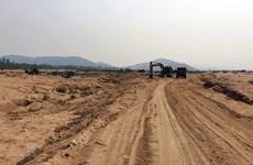 Sau phản ánh của TTXVN, công ty khai thác cát trái phép bị xử phạt