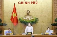 Hình ảnh Thủ tướng chủ trì phiên họp Chính phủ thường kỳ tháng 4