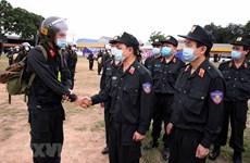 Tăng cường cảnh sát cơ động hỗ trợ Bắc Giang tuần tra, chống dịch
