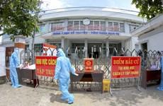 [Photo] Hậu Giang diễn tập phòng chống COVID-19 phục vụ bầu cử