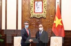 Chủ tịch nước Nguyễn Xuân Phúc tiếp Đại sứ EU tại Việt Nam
