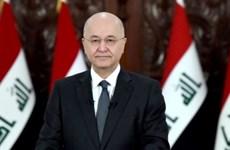Tổng thống Iraq khẳng định nỗ lực ổn định tình hình khu vực