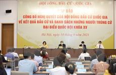 Hình ảnh công bố danh sách trúng cử đại biểu Quốc hội khóa XV