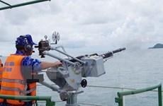 Hình ảnh Vùng Cảnh sát biển 1 tổ chức huấn luyện trên biển
