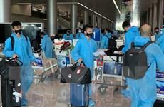 Hình ảnh đội tuyển Việt Nam về tới Thành phố Hồ Chí Minh