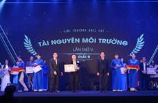 Bộ Tài nguyên và Môi trường vinh danh phóng viên của VietnamPlus
