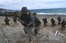 Triều Tiên hối thúc Hàn Quốc không tiến hành tập trận với Mỹ