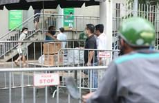 [Photo] Hà Nội cách ly y tế 2 tòa nhà khu Ecohome 2 ở quận Bắc Từ Liêm