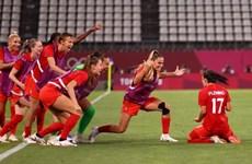 Tuyển bóng đá nữ Canada sẵn sàng cho trận chung kết với Thụy Điển