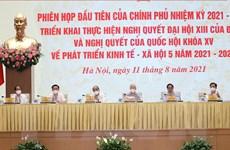Toàn cảnh phiên họp toàn thể đầu tiên của Chính phủ khóa XV