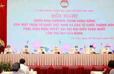 MTTQ Việt Nam triển khai việc thực hiện Nghị quyết Đại hội XIII