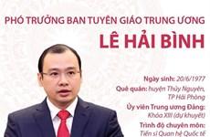 [Infographics] Phó Trưởng Ban Tuyên giáo Trung ương Lê Hải Bình