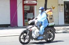 [Photo] Thành phố Đà Nẵng cho phép shipper hoạt động trở lại