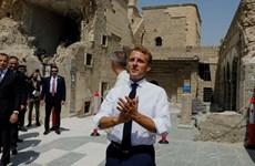 Tổng thống Pháp Emmanuel Macron thăm thành trì cũ của IS ở Iraq