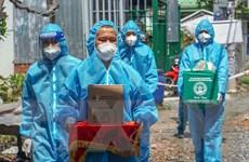Hình ảnh 'Bộ đội Cụ Hồ' trong tâm dịch COVID-19 ở TP Hồ Chí Minh