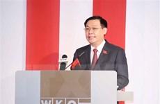 Chủ tịch Quốc hội Vương Đình Huệ tiếp một số doanh nghiệp Áo
