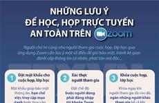 [Infographics] Những lưu ý để họp, học trực tuyến an toàn trên Zoom