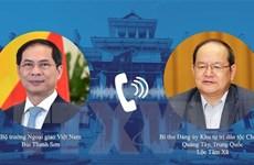 Bộ trưởng Ngoại giao Bùi Thanh Sơn điện đàm với Bí thư Quảng Tây
