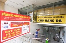 Hà Nội yêu cầu các chợ thực hiện nghiêm việc chống dịch COVID-19