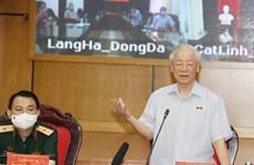Tổng Bí thư tiếp xúc cử tri Hà Nội trước kỳ họp thứ 2 Quốc hội khóa XV