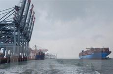 Hàng container qua cảng biển tiếp đà tăng trưởng hai con số