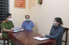 Hà Nam: Bắt tạm giam người phụ nữ khai báo gian dối về dịch bệnh