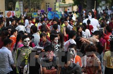 [Photo] Sinh viên Báo chí hóa trang ma mị trong đêm hội Halloween