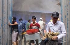 [Photo] Hiện trường kinh hoàng vụ cháy lán trại công nhân ở Hoàng Mai