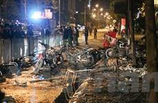 Hiện trường kinh hoàng sau vụ cháy quán karaoke ở phố Trần Thái Tông