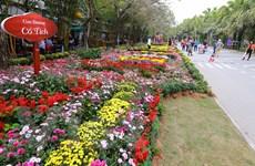 Người dân Thủ đô thích thú với lễ hội hoa xuân lớn nhất Tết 2017
